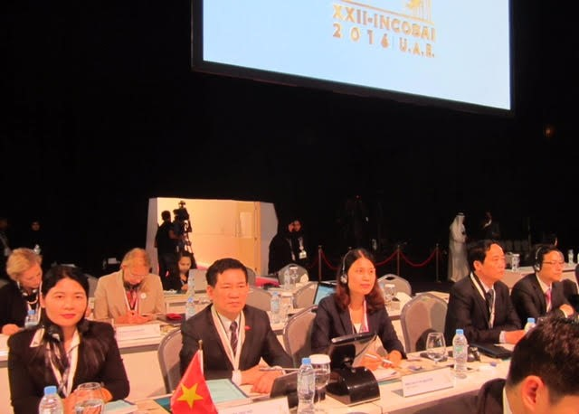 Delegation from SAI Viet Nam attending the INCOSAI XXII in Abu Dhabi